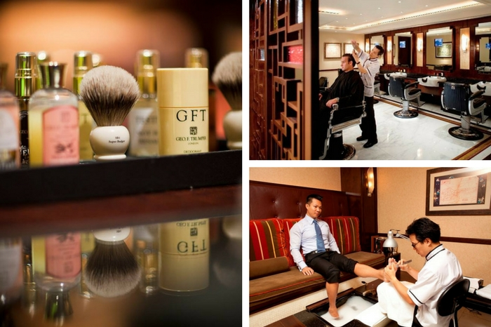 The Mandarin Barber serves up traditional gentlemen's grooming services