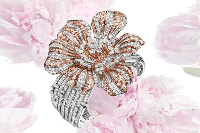 Peony Diamond Brooch On A Bangle From Belford Jewellery Is Highlight At The Hong