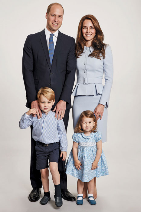 Prince William and Catherine, Duchess of Cambridge with Prince George and Princess Charlotte