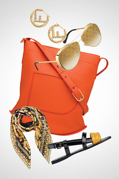 6990044a119 Go bold or go home. Products  F is for Fendi gold earrings. Louis Vuitton  Las Vegas Parano sunglasses