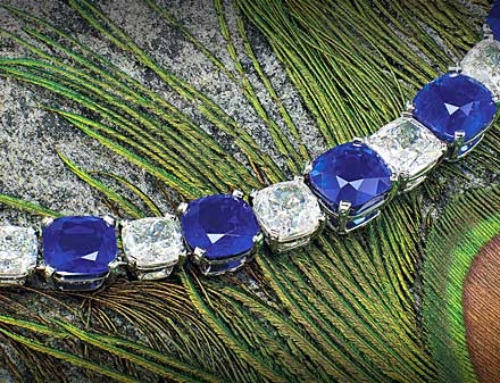Peacock Necklace: Kashmir sapphire and higher valuations