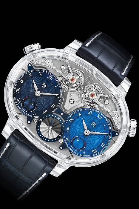 Skeleton dial watches - Dual Time Resonance Sapphire by Armin Strom