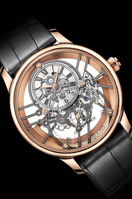 Skeleton dial watches - Jaquet Droz's Grande Seconde Skelet-One Red Gold