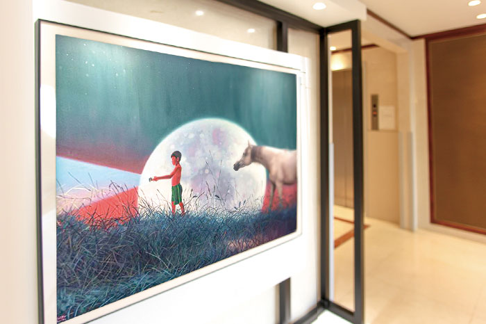 Artwork in the lobby of The Repulse Bay Residence