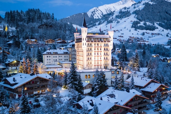 The stunning five-star Gstaad Palace
