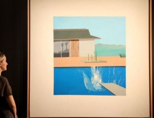 The Splash: A striking piece by David Hockney sells at Sotheby's auction