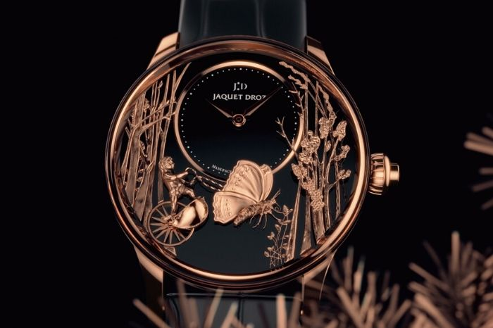 The Jaquet Droz Loving Butterfly Automaton