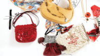 Floral designed handbags decorate the catwalk in 2020 gafencu magazine fashion 3 feature