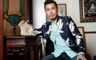 The lions and the Lam Renowned local artist Michael Lam gafencu magazine feature people