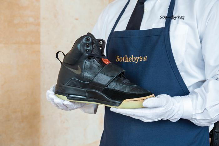 gafencu Auction Highlights The most desirable and highest commanding collectible items to go under the hammer kanye west nike air yeezy 1 prototype