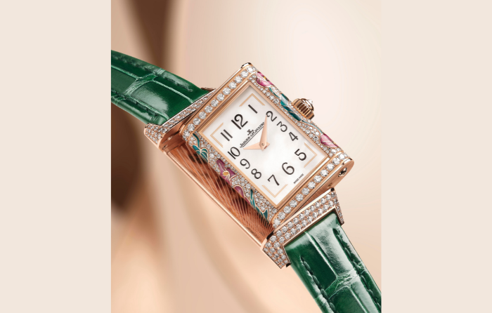 gafencu magazine luxury lifestyle Five show-stopping high jewellery watches to add to your collection jaeger lecoutre reverso purple arums