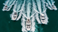 gafencu magazine luxury lifestyle Fleet Parade Prestige Yachts set offshore with a stunning debut cover